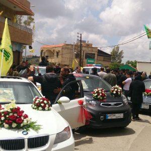 استقبال الشهيد باسل بسما في كفردونين